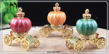 New Carriage Jewelry Trinket Box Figurine Cinderella Pumpkin Hinged Collectible Keepsake