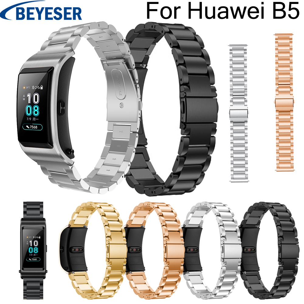 18mm watchband for Huawei B5 Stainless steel wrist band high quality wrist belt for Huawei B5 classic bracelet replacement strap in Watchbands from Watches