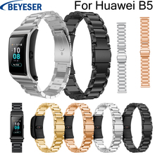 18mm watchband for Huawei B5 Stainless steel wrist band high quality belt classic bracelet replacement strap