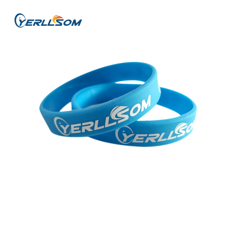 YERLLSOM 100pcs Lot High Quality Custom personalized printed silicone bracelets for events Y101001