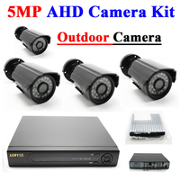 4CH AHD 5MP IMX326 AHD Camera Kit Outdoor Waterproof Surveillance Camera System XMEYE APP IRCUT Night Vision