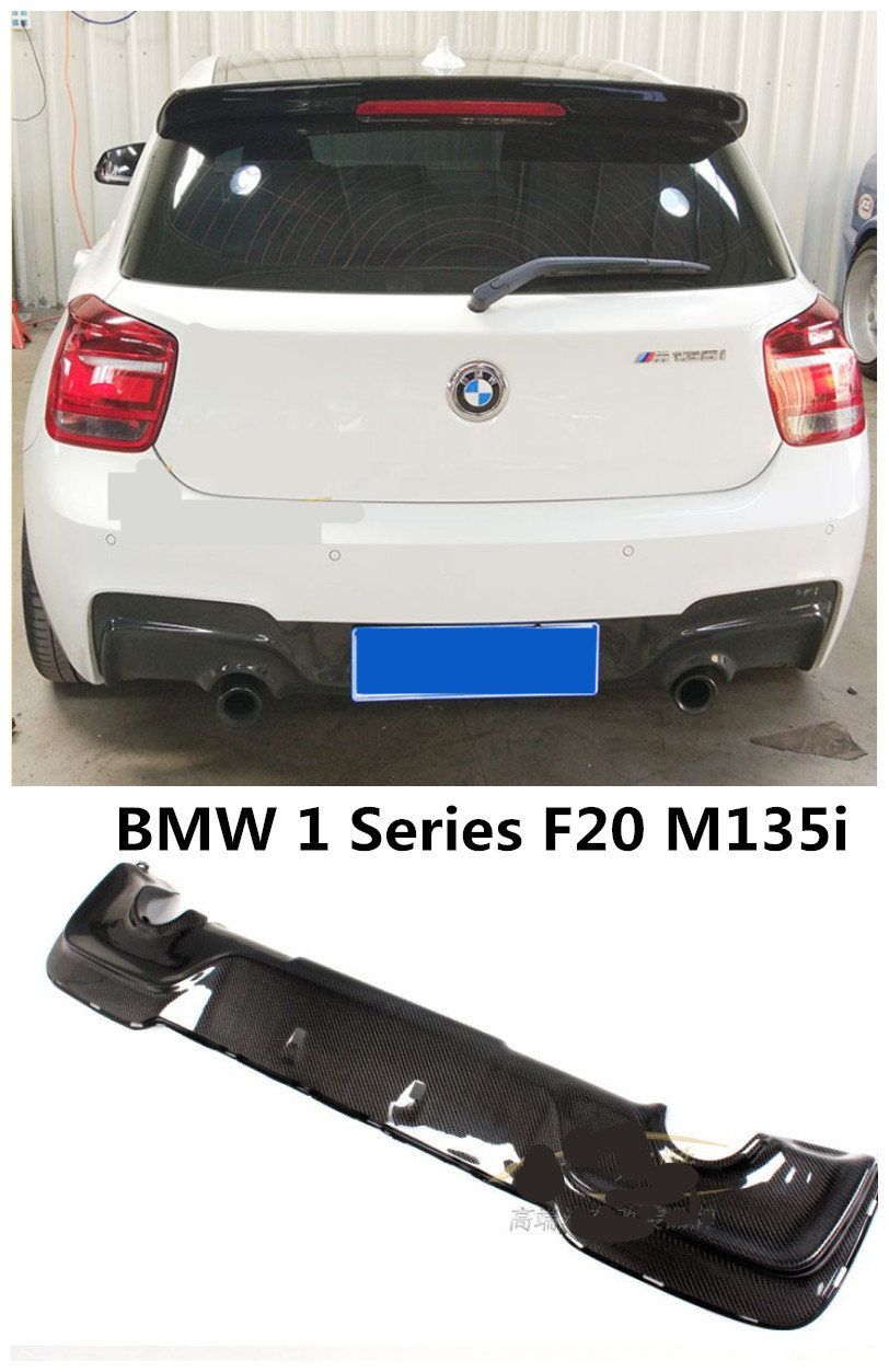 For BMW 1 Series F20 M135i 2012-2018 Carbon Fiber Rear Lip Spoiler Bumper Diffuser High Quality Car Modification