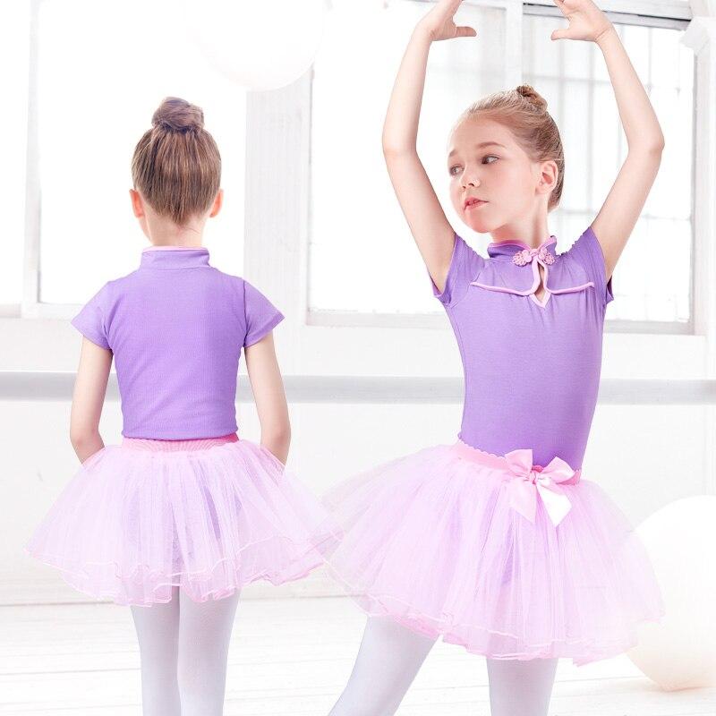 2 PCS Chinese Style Ballet Dress Girls Leotards&Skirt Ballet Costume Kids Classcial Ballet Dance Dress Dancing Clothes