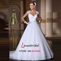 New Arrival 2015 Cap Sleeve Vestidos De Novia Backless Chiffon Wedding Dresses Sweetheart Ball Gown Bridal Gown BOP705