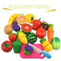2017 New Preschool Children ABS Plastic Food Fruit Vegetable Cutting Colorful Pretend Play Kitchen Toys Set toy girls Kids RT005