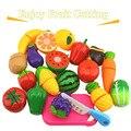 2017 nuevos niños preescolares abs plástico fruta vegetal corte colorido pretend play kitchen toys set juguete niñas niños rt005