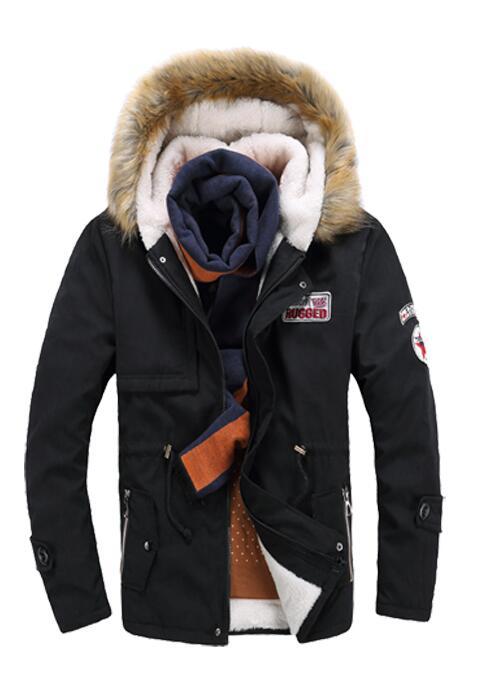 2016 new mens thickening in the long hair collar coat lamb lamb fur jacket
