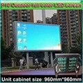 P10 Полноцветный СВЕТОДИОДНЫЙ Дисплей, открытый водонепроницаемый Рекламы экран, кабинет размер 96 см * 96 см, DIY полноцветный видео стены