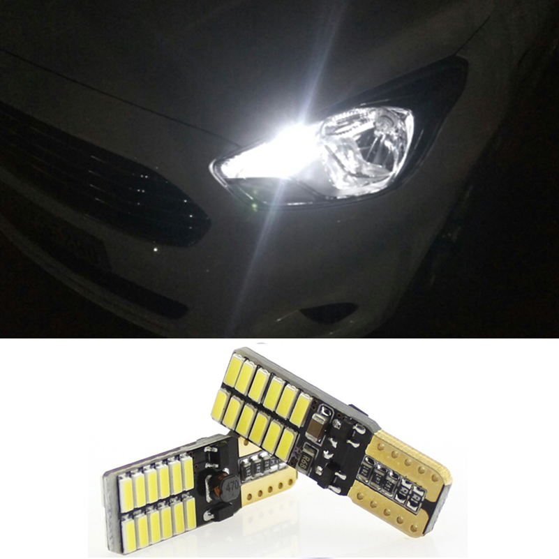 2x Canbus LED T10 W5W Car Parking Light Clearance Lights For Daewoo Nexia Matiz Lanos Nubira Lacetti Gentra Leganza Tico Espero deechooll 2pcs wedge light for mazda 2 3 5 6 mx5 rx8 cx7 626 gf gg ge gw canbus t10 57smd 6w led clearance xenon lighting bulbs