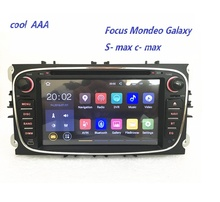 En gros! 2Din Android 7.1.2 Quad Core Voiture DVD GPS Navigation pour Ford Mondeo S-max Cmax Focus Radio Tête Unité 3G 4G