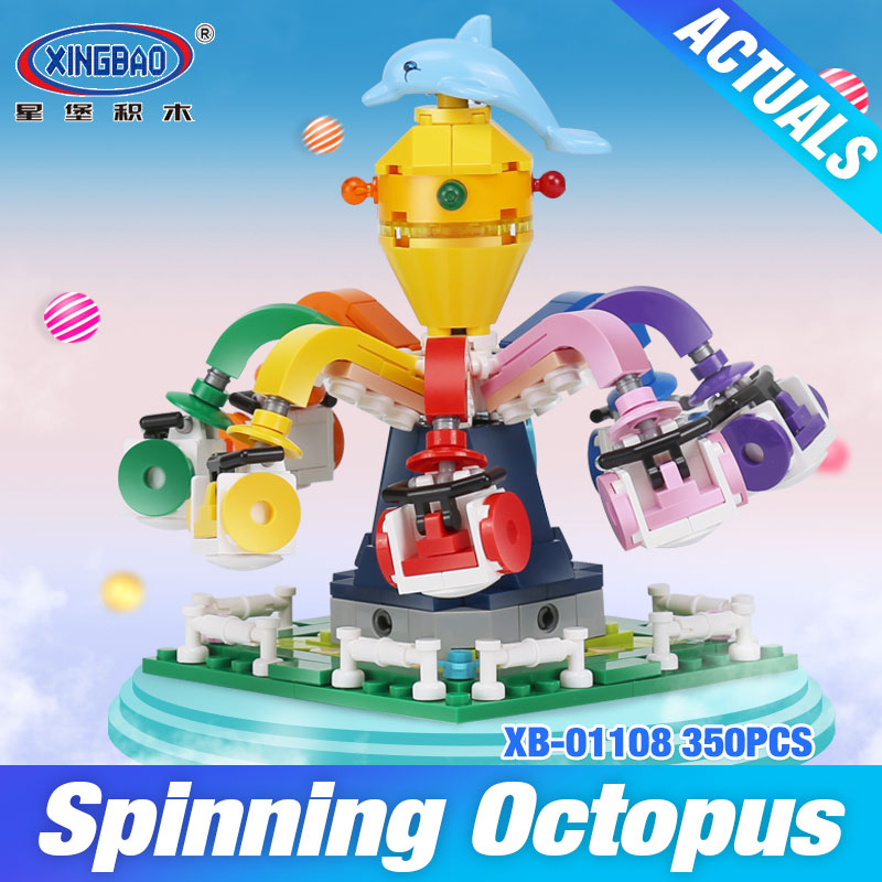 Фото XingBao 01108 The Spinning Octopus Set Genuine 350Pcs Colorful World Series Building Blocks Bricks Educational Toys Model Gifts