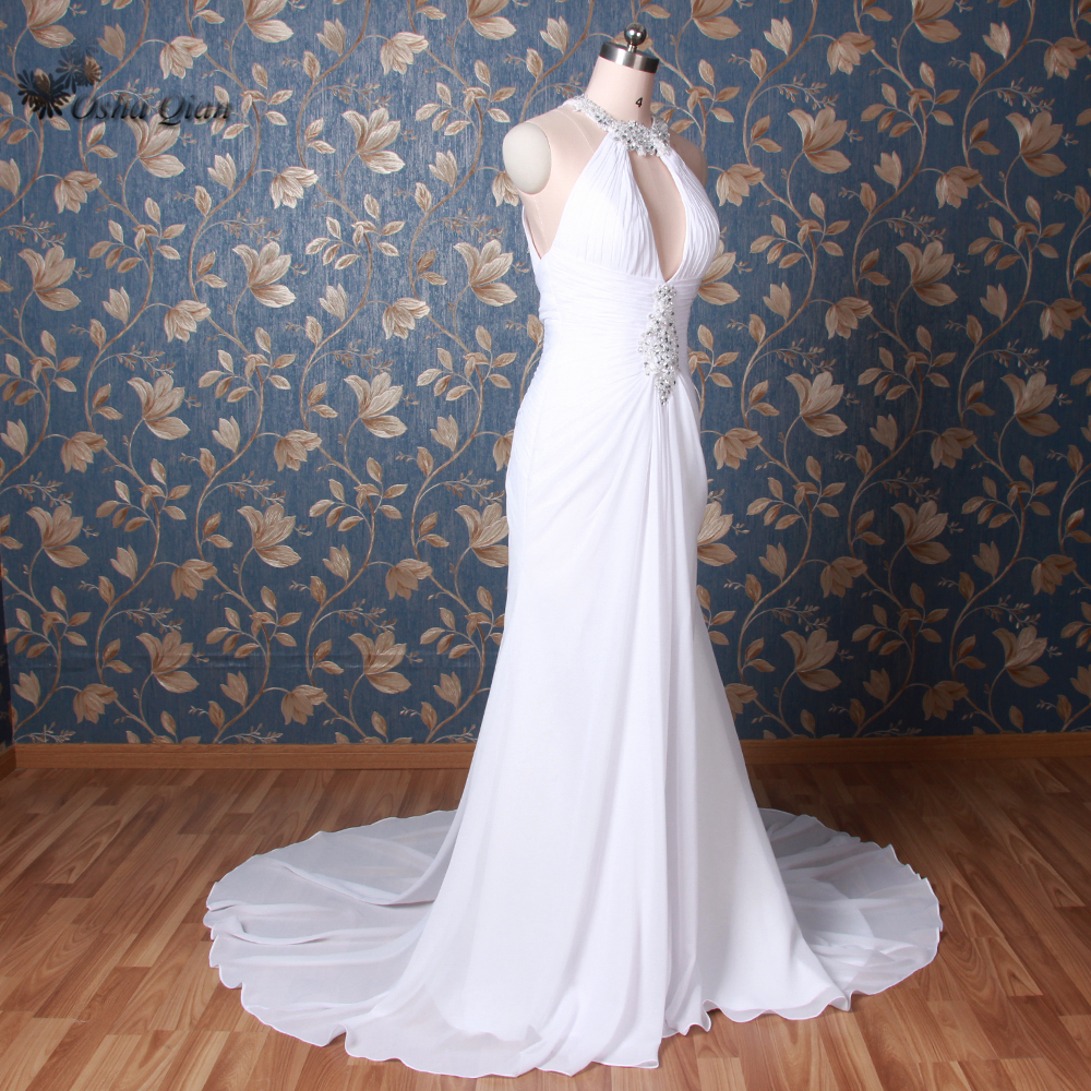 Vestido de noiva sereia White Sexy Backless Wedding Dresses Mermaid ...