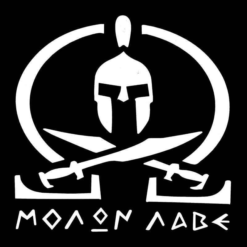 14*14 ซม.Molon Labe Spartan ดาบข้าม Automoblie ไวนิลประตูป้ายสติกเกอร์สติ๊กเกอร์รถด้านหลัง Trunk Emblem ตกแต่ง
