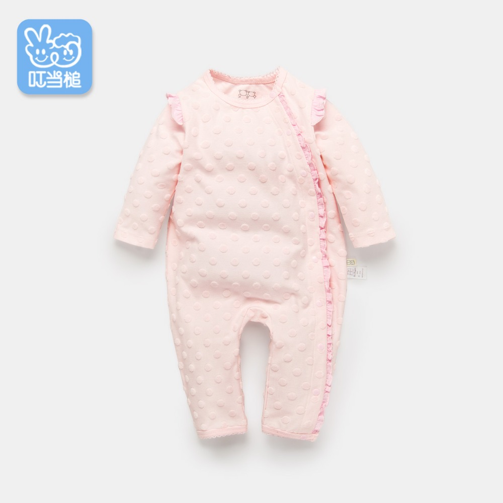 Dinstry spring and summer baby romper long-sleeved baby romper autumn baby boy baby girl pajamas dinstry 2018 spring and autumn newborn baby cotton long sleeve romper lion pattern
