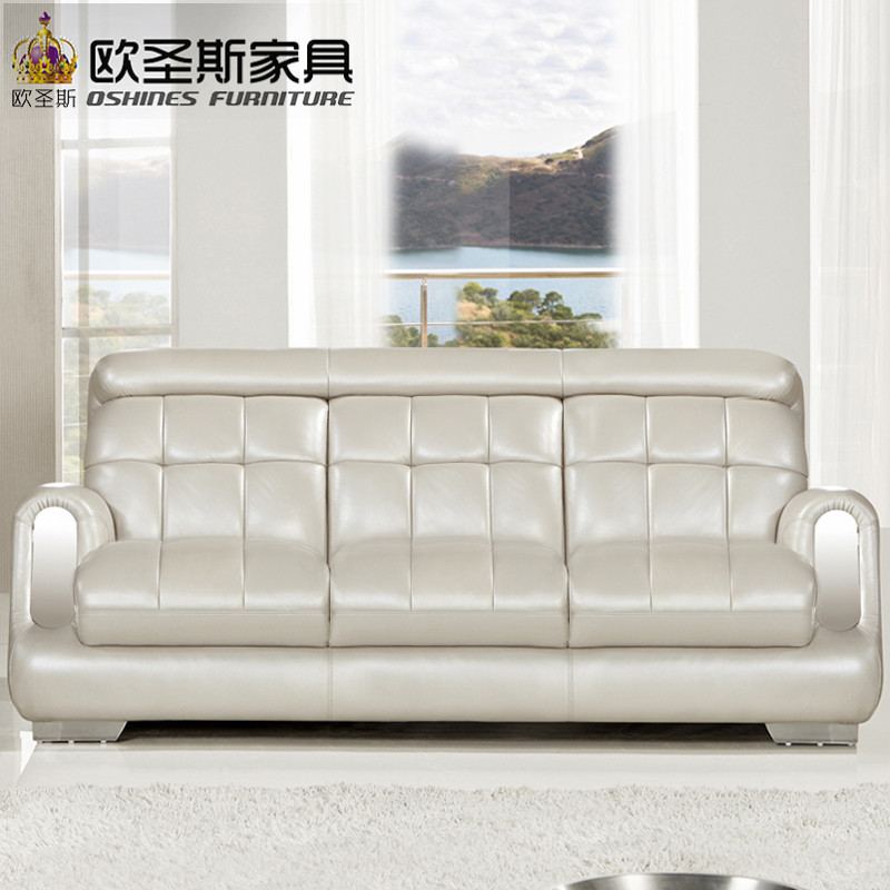 2017 new design italy Modern leather sofa ,soft comfortable livingroom genuine leather sofa ,real leather sofa set 321seat F38A post modernity new design french 3 modern leather sofa set classic white leather