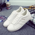 hot 2017spring new fashion women shoes casual platform striped PU cotton simple women casual white shoes classic