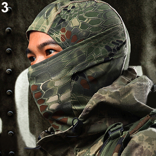 Men's Accessories 1pc Terylene Camouflage Army Cycling Motorcycle Cap Balaclava Hats Full Face Mask For Outdoor Wargame Cs Universal Drop Shipping Grade Products According To Quality Apparel Accessories