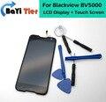 O mais novo! blackview bv5000 touch screen + display lcd 100% digitador da tela de substituição assembleia para blackview bv5000 telefone + ferramentas