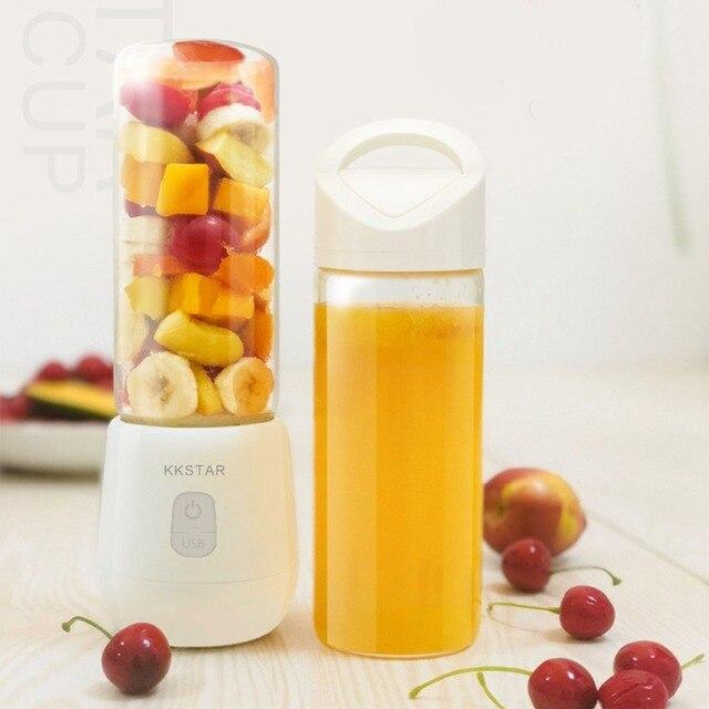 450ML Portable Blender Multi-function Juicer 6 Blade Mini Juice Cup Household Food Soymilk Fruit Mixer Baby Food Squeezer