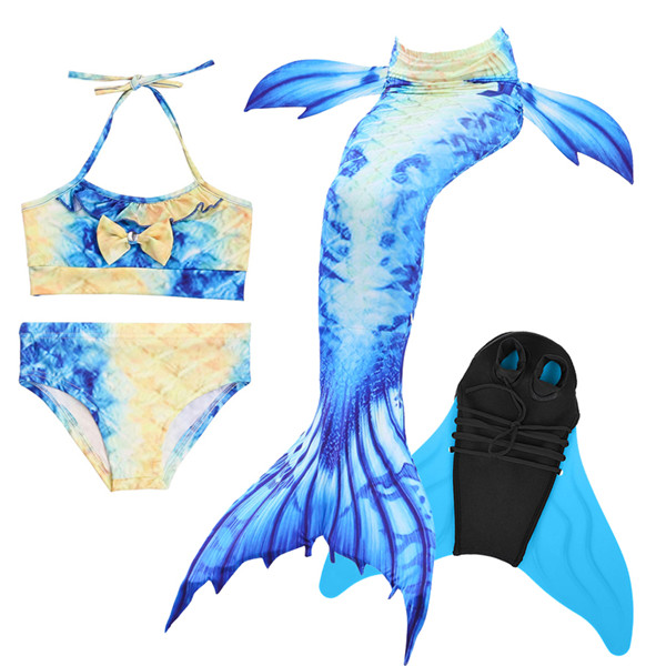 Girls-Mermaid-Tail-with-Swimming-Flipper-Swimable-Mermaid-Tail-Swimable-Monofin-Bikini-Swimwear-Children-Swimsuit-Diving(13)