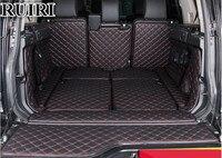 Hohe qualität matten! Vollen satz auto stamm matten für Land Rover Discovery 4 2016 2010 7 seats beständigen boot teppiche cargo liner matten auf