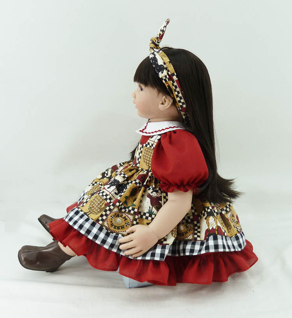 60cm Silicone Vinyl Reborn Baby Doll Toys Girl Brinquedos 24inch Toddler Princess Doll Play House Toy