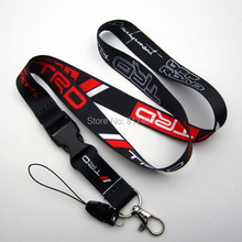 10pcs TRD Racing Development car JDM Lanyard Neck Cell Phone Key Chain Strap for ID Holders(China)