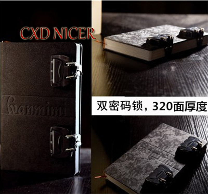 Creative Retro Password Gift Stationery Notebook Thickening BUsiness Lock Diary Student Gift School Memo Notepad DD1383 2017 15 colors felt cover retro creative lock hand notebook notepad diary stationery gift