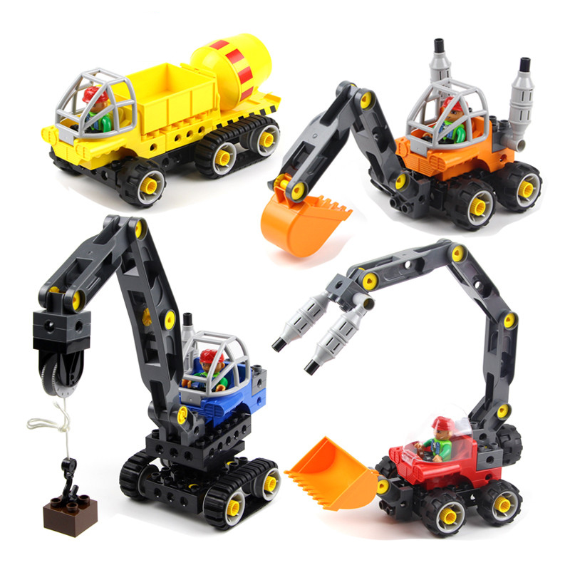 Toys for Children Model Building Kits Blocks Toy Learning Education Machines Loader Car Toy Blocks Compatible With Legoe Duplo wange mechanical application of the crown gear model building blocks for children the pulley scientific learning education toys