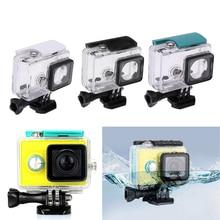 Hot 45M nurkowanie podwodne wodoodporna obudowa dla Xiaomi Yi 1 kamera sportowa wodoodporna skrzynka ochronna dla Xiaomi yi 1 Action Camera
