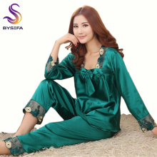 [BYSIFA] Summer Ladies Nightgown Pajamas Set Home Apparel Sleep Lounge