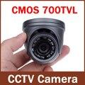 700TVL 1/4 ''CMOS 12 Светодиодов Ночного Видения 3.6 мм Объектив Открытый/Закрытый Металлический Водонепроницаемый Купольная Камера Безопасности Камеры ВИДЕОНАБЛЮДЕНИЯ