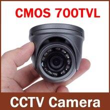 """700TVL 1/4 CMOS 12 נוריות ראיית לילה 3.6 מ""""מ עדשה חיצוני/מקורה מתכת עמיד למים מיני כיפת מצלמה אבטחת CCTV מצלמה"""