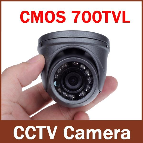 700TVL 1/4 CMOS 12 LEDs Night Vision 3.6mm Lens Outdoor / Indoor Metal Waterproof Mini Dome Camera Security CCTV Cameramini dome camerasdome camerasecurity cctv camera -