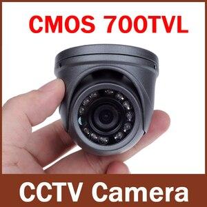Image 1 - 700TVL 1/4 CMOS 12 Led di Visione Notturna 3.6mm Lente Esterna/Interna In Metallo Impermeabile Mini Macchina Fotografica Della Cupola di Sicurezza macchina Fotografica del CCTV