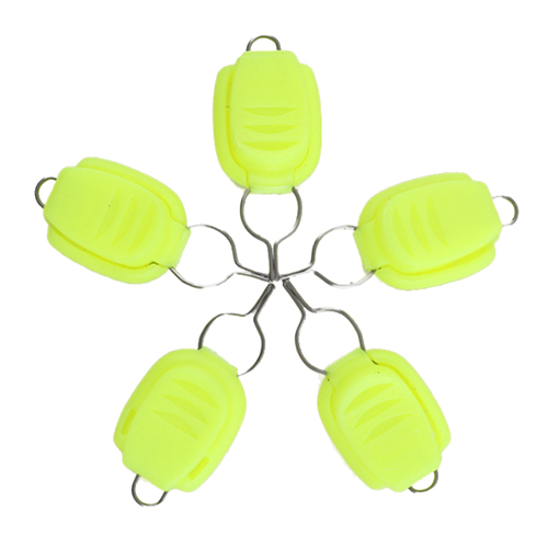 ILURE 5 pcs/set ABS card line device drums water Drop wheel dedicated card device for fishing accessories color:Fluorescence