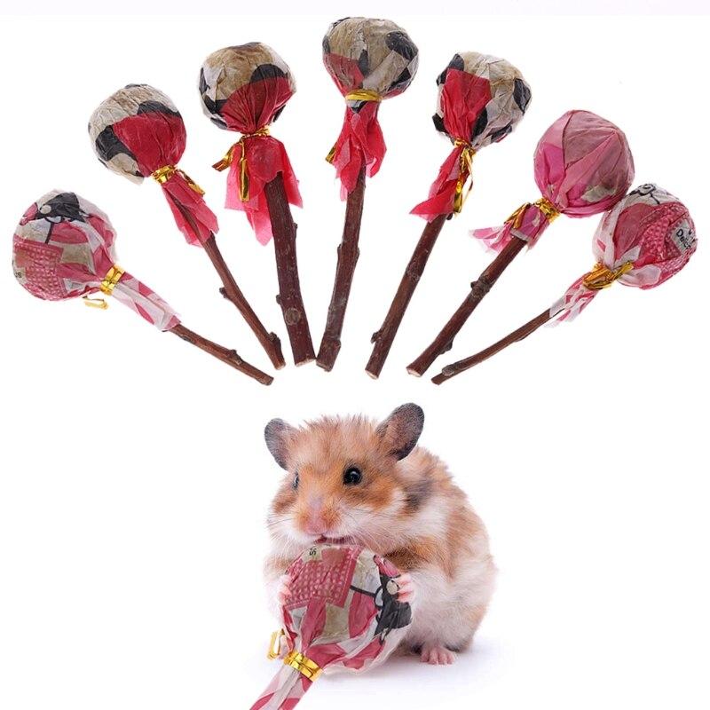 Natural Grass Pet Hamster Grinding Teeth Stick Rabbit Chinchilla Guniea Pig Chewing Toy