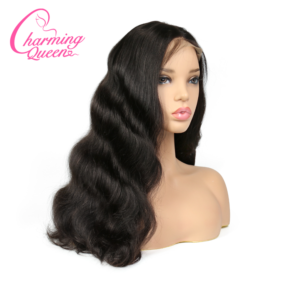 Charming Queen 250 Density Lace Front Human Hair Wigs For Black Women Body Wave Brazilian Remy