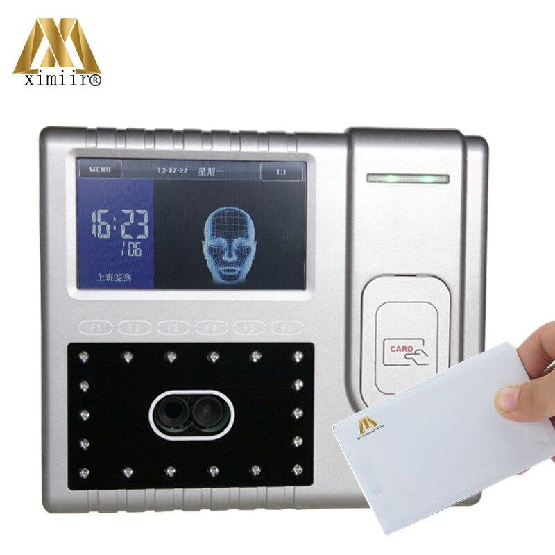 Iface501 visage contrôle d'accès temps présence équipement de bureau 4.3 'TFT écran tactile 13.56 MHz MF carte horloge