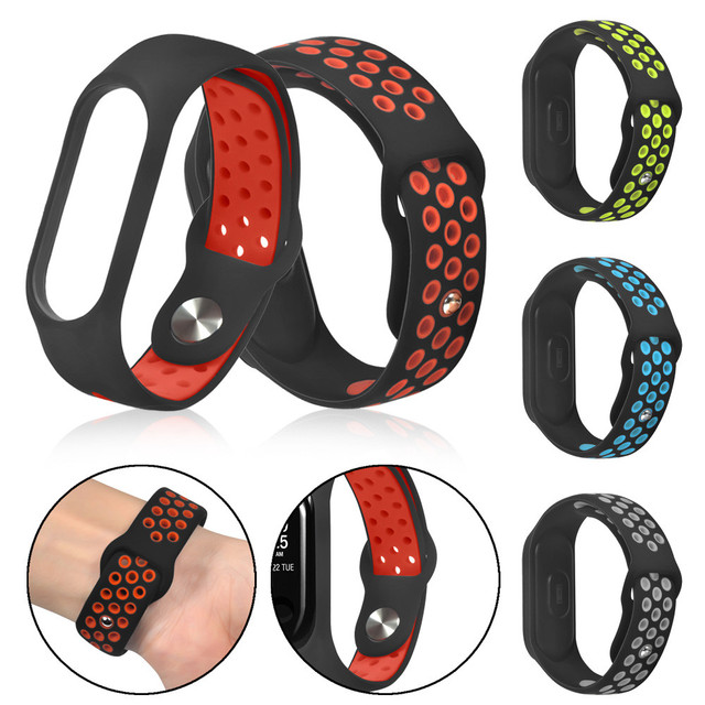 2018 New Replacement Ventilate Sport Soft Wristband Wrist Strap For Xiaomi Mi Ba