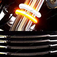 LED 39mm-41mm Fork Turn Signal&Daytime Running Light Kits&Smoked Lens For Harley Victory Motorcycle