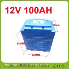 Balance scooter, solar system Lithium rechargable Battery Pack 12V 100AH with BMS 12V Electric Bicycle Battery