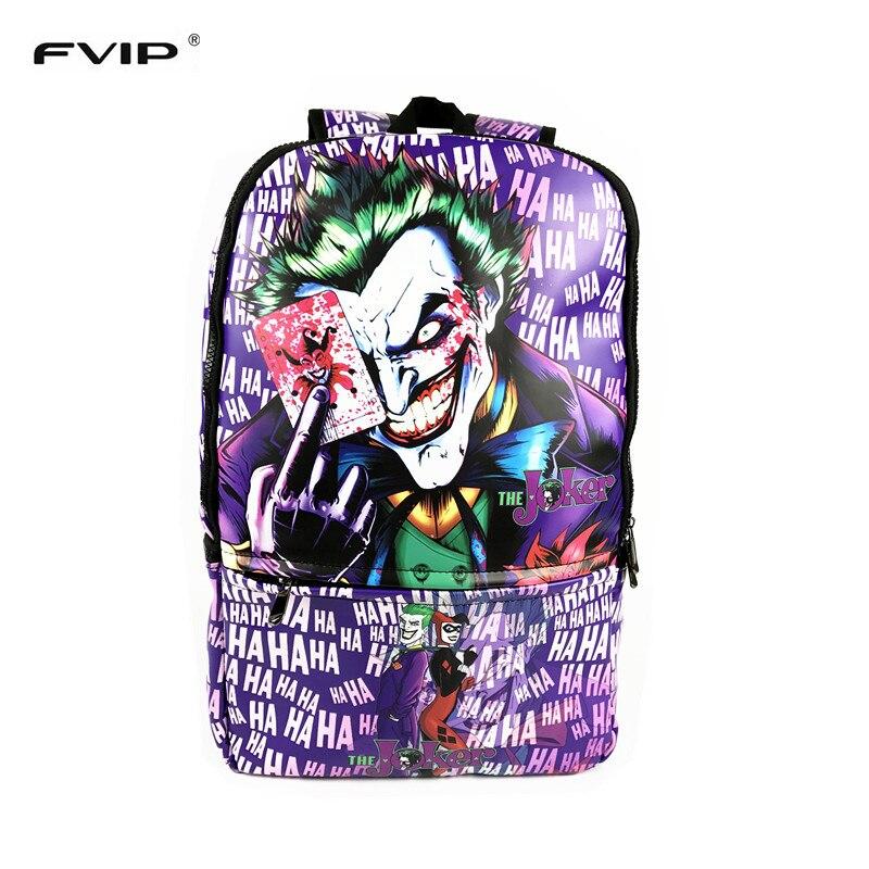 100% Wahr Fvip Kühlen Druck Männer Rucksäcke Große Größe Joker Hahaha Notebook Laptop Rucksack Coole Schule Kinder Rucksack