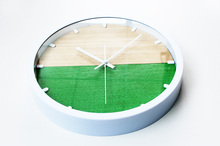 Two Colored Wooden Wall Clock