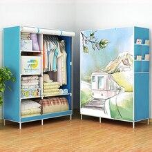 Современная мода шкаф нетканые ткани усиление рамки DIY сборки для хранения Организатор съемный одежда мебель