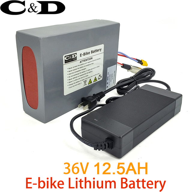 36V 12.5AH E-bike/ebike Battery Pack Lithium ion Battery for Electric bike  Electric Bike Coversion Kit Including Charger