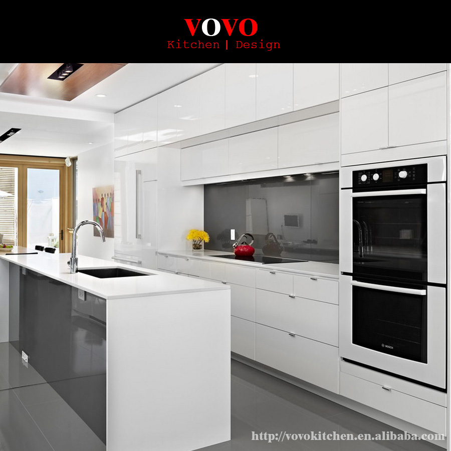 Low price and high quality high gloss lacquer kitchen for High gloss kitchen cabinets