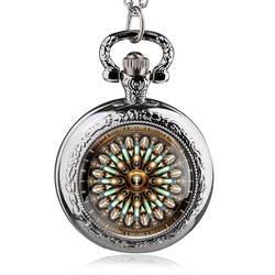 Античная стимпанк кварцевые карманные часы Для мужчин Для женщин Нержавеющаясталь панк часы ювелирные изделия Цепочки и ожерелья