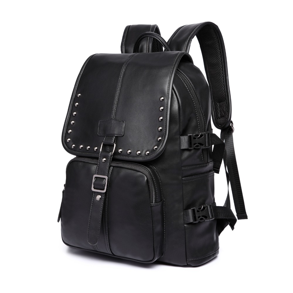 (B9597)2016 Vintage quality PU leather men women backpack, two kinds of color , suitable for mochila or shopping bag