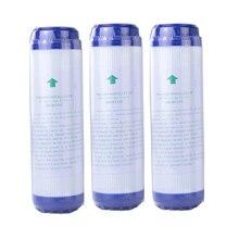 3pcs 10 인치 GAC 세분화 된 활성 탄소 블록 물 필터 카트리지 교체 정수기 정수기 UDF 교체